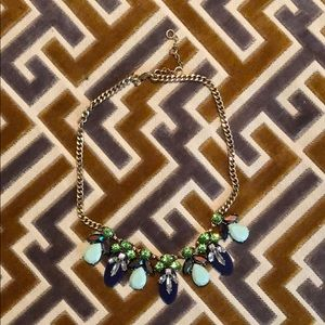 J.Crew green and blue necklace